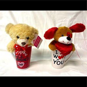 Valentines stuffed animal set
